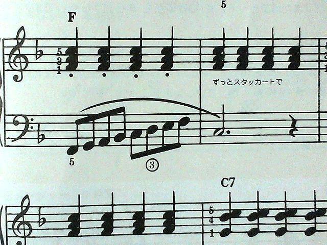 左メロ、右伴奏