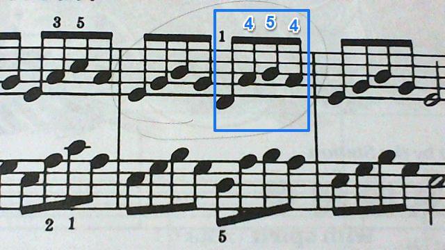Aの第2転回形第5音省略形をアルペジオで