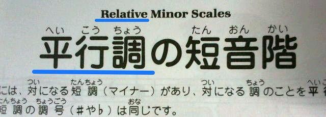 平行とrelative 日英の訳語の違い
