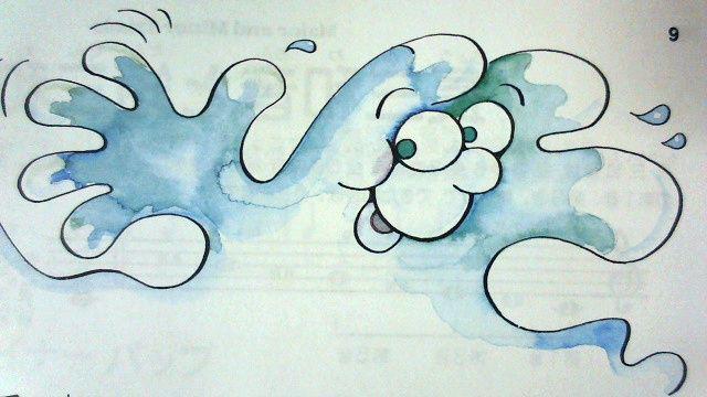 波のお話の挿絵