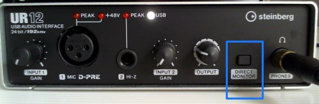 UR12 DIRECTMONITORボタン
