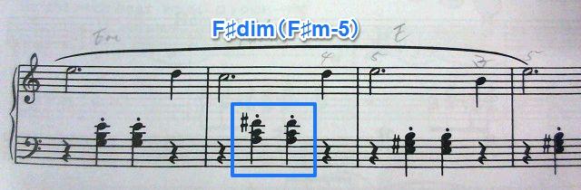 バスティン4巻・風の歌・B楽節 F♯dim(F♯m-5)混じっとる!
