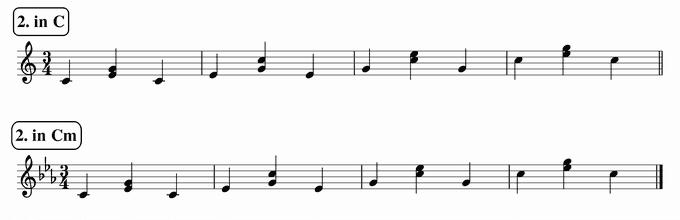 バスティンベーシックスピアノ4 転回形のおさらい 次のリズム2 in C & Cm 楽譜(写譜)