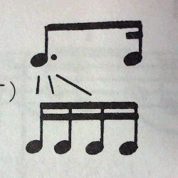 付点8分音符と16分音符