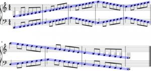 バーナム1巻グループ5の11番難問題の音の動き