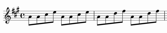 分散和音でできたメロディ