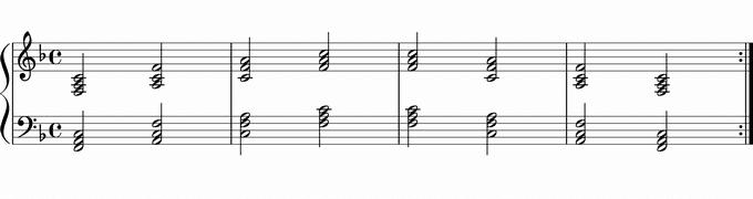 Fの転回形 移調練習用楽譜
