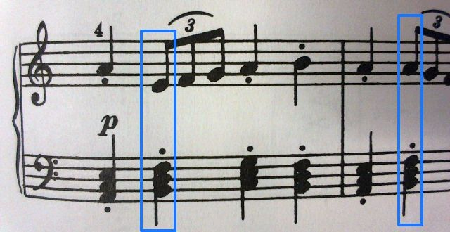 不協和音になってる箇所 例2