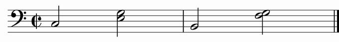 ブロークン・コード・バス・第2の型(バスティン)写譜