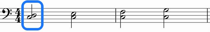 和声的音程左手4,5指