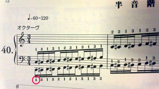 ハノン第2部半音階 開始