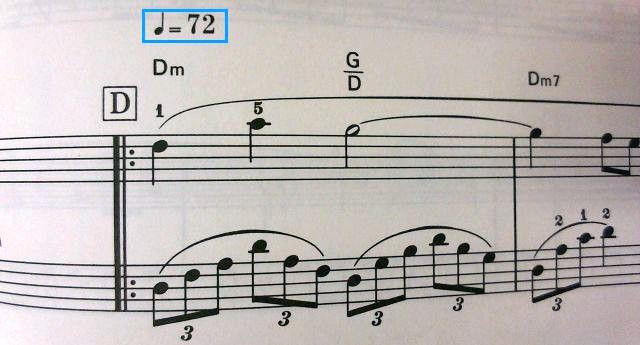 オケ版≒バイエル併用版「アレフガルドにて」は72BPM