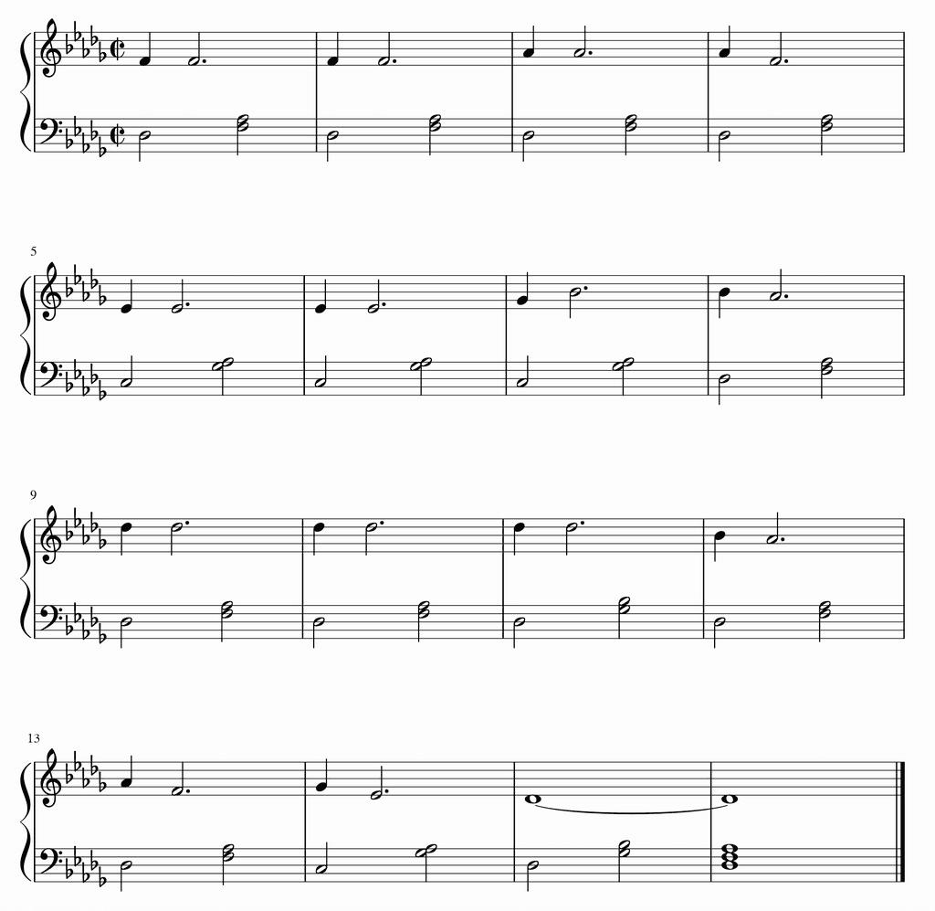 ヤコブのはしご ブロークン・コード第2の型バージョン楽譜