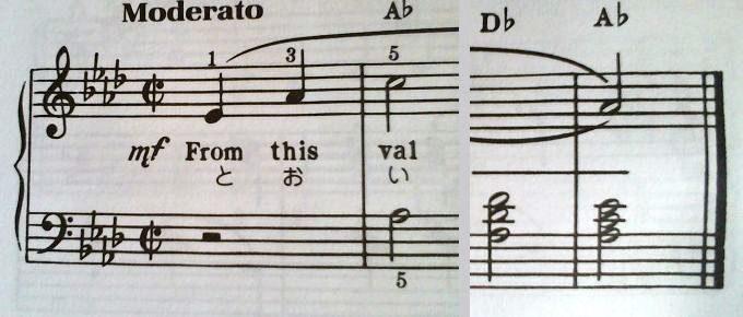 アウフタクト 2分の2拍子だから、2拍目開始、1拍目終了