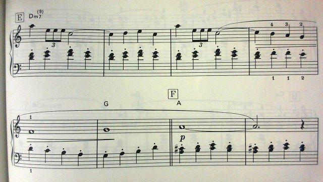 バイエル併用楽譜の「馬車のマーチ」