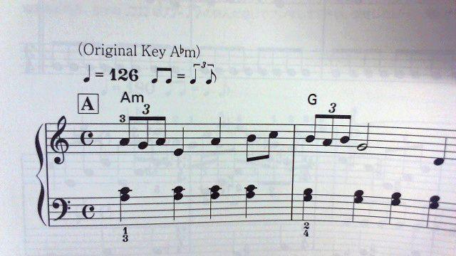 オリジナルキーが括弧書きで明記してある!(例:カエルのテーマ)