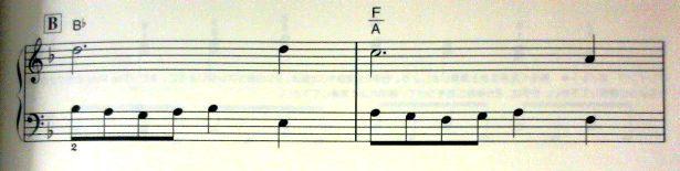 バイエル併用のFF1「オープニング・テーマ」Bメロ1