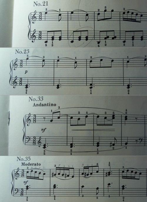 『グルリット初歩者のための小練習曲』3/8拍子多すぎw
