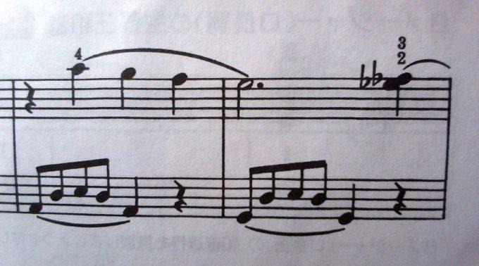 バスティン4夕べのセレナーデB楽節の不穏な重音